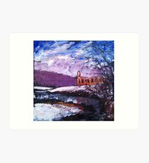 'Winter, Bolton Abbey' Art Print