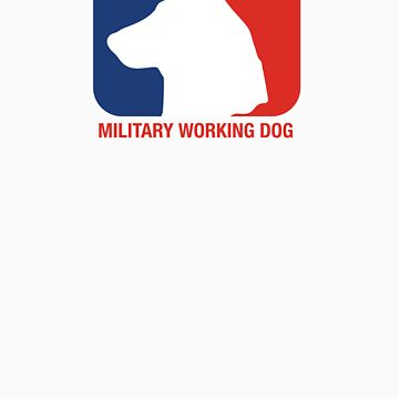 Military Working Dog, Red White & Blue by grym