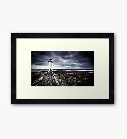 Port Fairy Lighthouse In Storm Framed Print