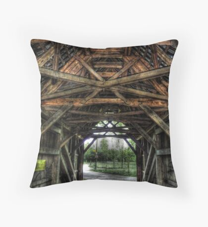 Old Time Crossings Throw Pillow