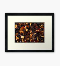 Christmas Pudding Fruit Framed Print