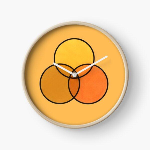 Shades of yellow Clock