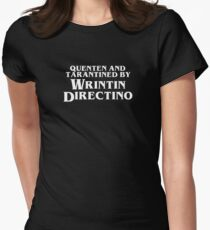 Pulp Fiction | Quenten and Tarantined by Wrintin Directino Fitted T-Shirt