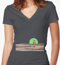 Marooned Astronaut (alone 2015) Fitted V-Neck T-Shirt