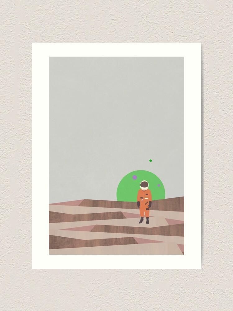 Alternate view of Marooned Astronaut (alone 2015) Art Print