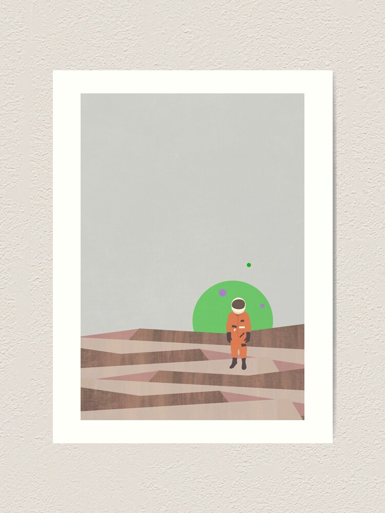 Alternate view of Marooned Astronaut (alone 2015) Art Print