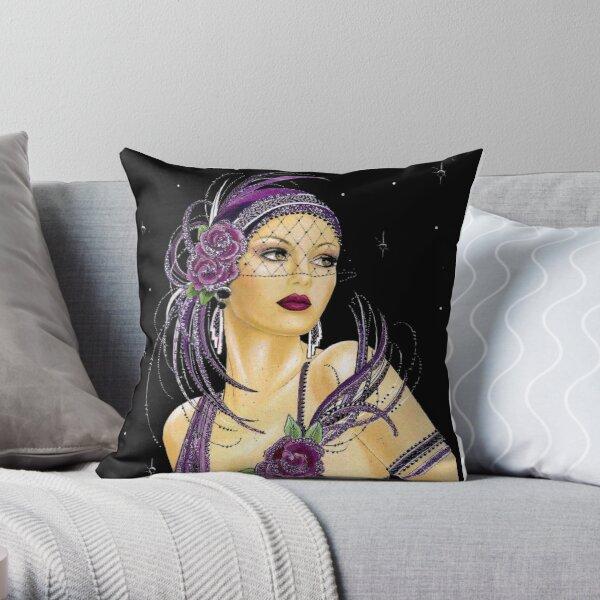 FLAPPER : Vintage 1930 Art Deco Print Throw Pillow
