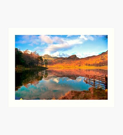 Blea Tarn - Lake District Cumbria. Art Print