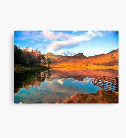 Blea Tarn - Lake District Cumbria. Canvas Print