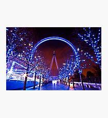 Christmas time at the London eye Photographic Print