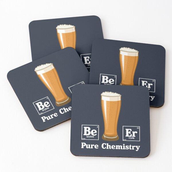Pure Chemistry (dark) Coasters (Set of 4)