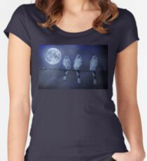 Moonlight Roost Women's Fitted Scoop T-Shirt