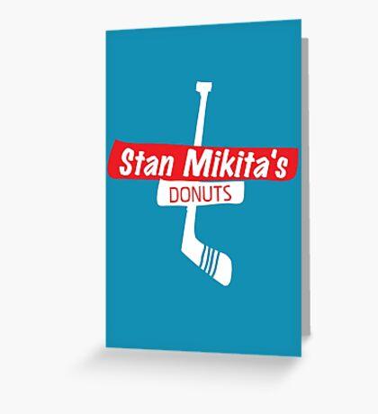 Stan Mikita's Donuts Greeting Card
