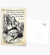 Alice in Wonderland Quote - Deep Secrets of Life - Lewis Carroll Quote - 0116 Postcards