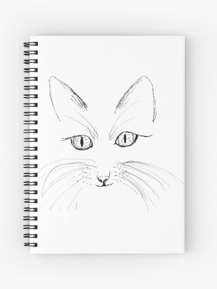 Hand Draw Cat Face Spiral Notebook By Jitkaegressy Redbubble