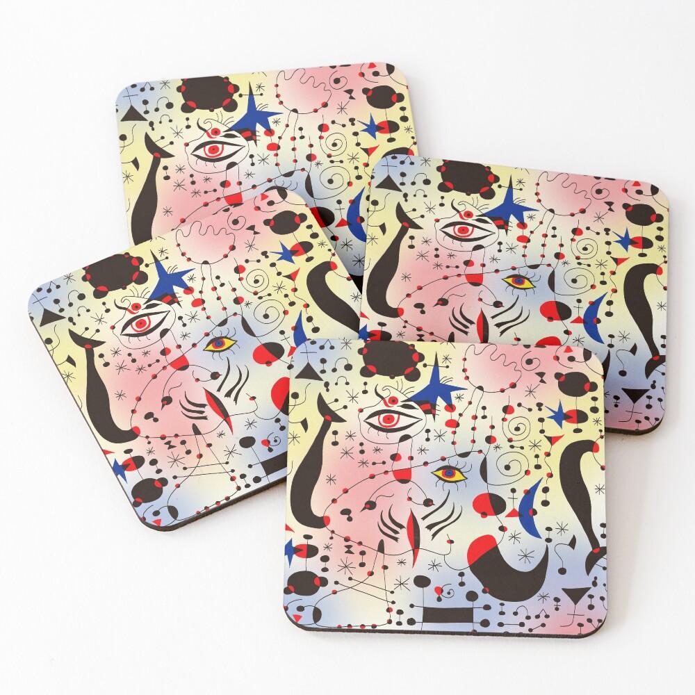 Joan Mirò Pattern #1 Coasters (Set of 4)