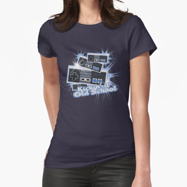 Funny Tshirts Kids Mens Womens Kickin It Old School T-Shirt