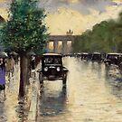 Berlin 1920, Unter den Linden, by Leo Ury by edsimoneit
