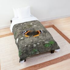Merch #42 -- Red Admiral Butterfly Comforter