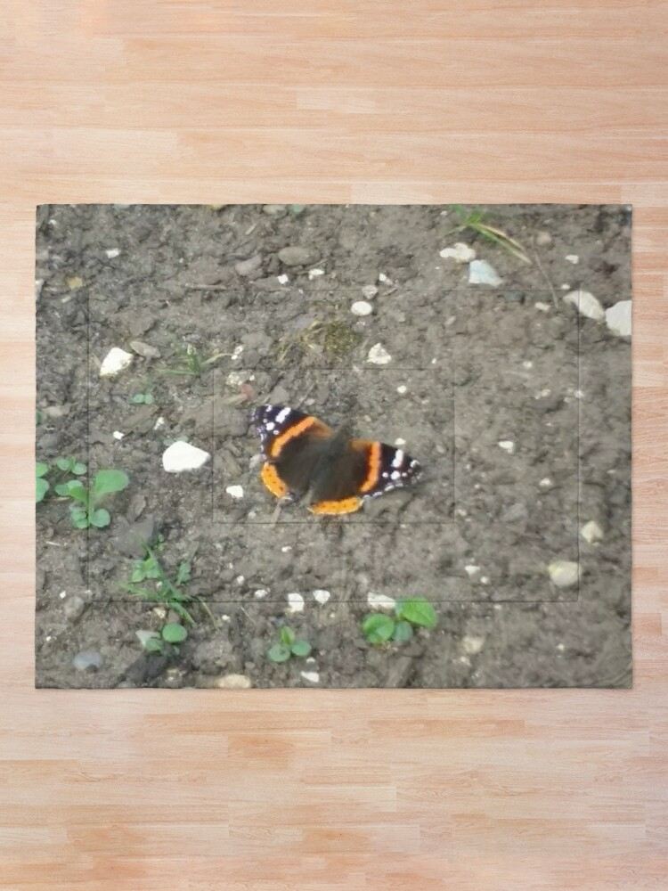 Alternate view of M.I. #42 |☼| Red Admiral Butterfly (Pearson Park) Comforter