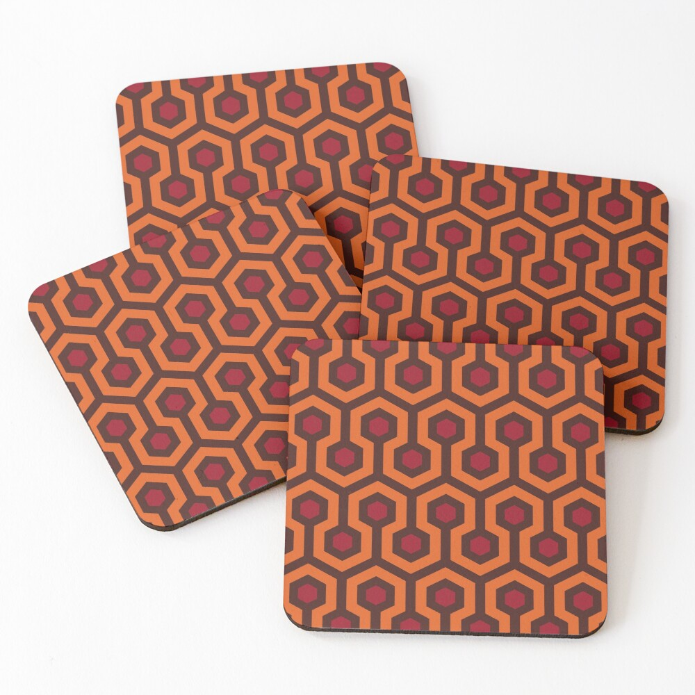 Overlook Hotel Carpet (The Shining)  Coasters (Set of 4)