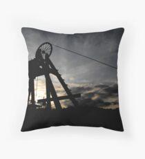 Blists Hill Mining Wheel Throw Pillow