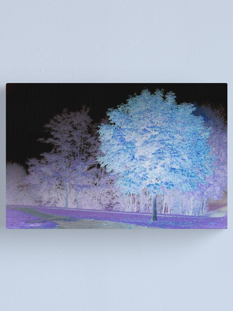 Alternate view of Inverted chestnut in blue-purple Canvas Print