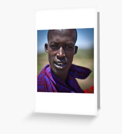 Portrait of a Warrior Greeting Card
