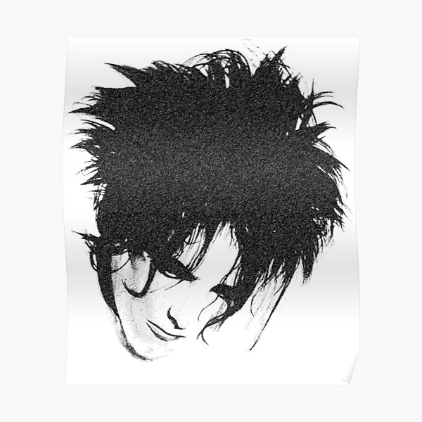 The Cure 5 English Rock Legend Band Black and White Poster Smith Music Picture