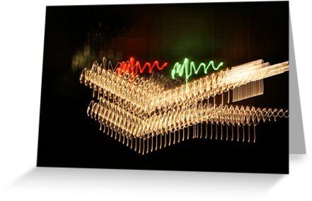 Suburb Christmas Light Series - Xmas Smile by David J. Hudson