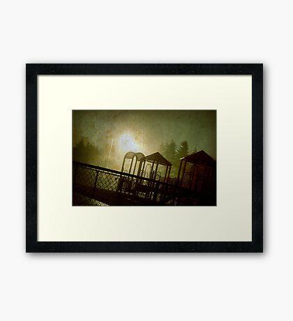 The Park at Night Framed Print