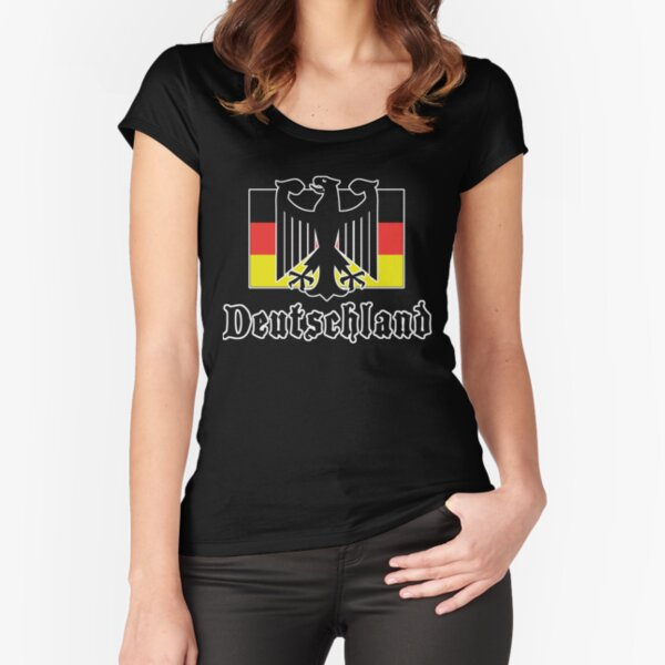 """Germany """"Deutschland"""" T-Shirt Fitted Scoop T-Shirt"""
