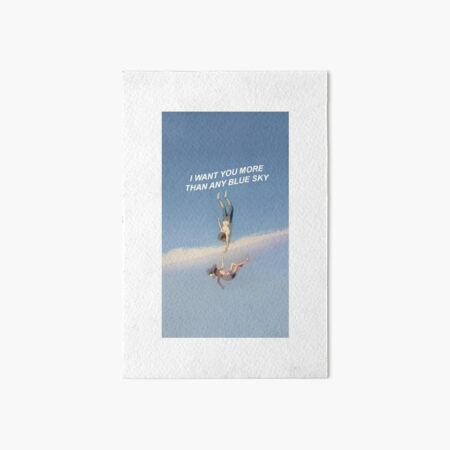 I want you more than any blue sky - weathering with you Art Board Print