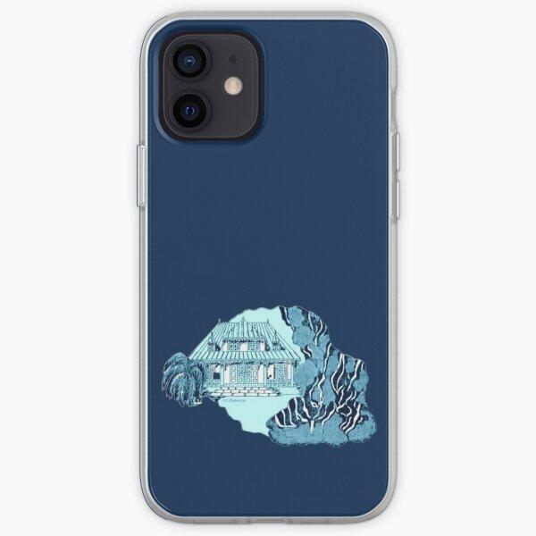 Reunion Island. Color background iPhone Soft Case