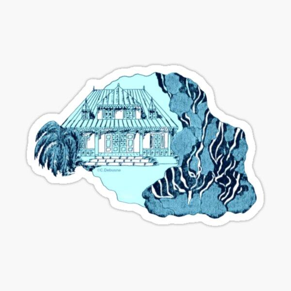 Reunion Island. Color background Sticker