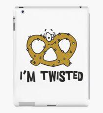 "Funny Pretzel ""I'm Twisted"" iPad Case/Skin"