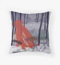 A walk with Wolves Throw Pillow
