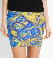 Yellow and Blue abstraction Mini Skirt