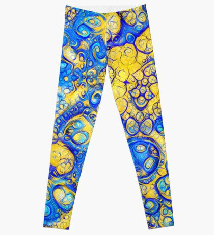 Yellow and Blue abstraction Leggings