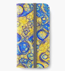 Yellow and Blue abstraction iPhone Wallet/Case/Skin