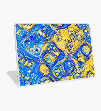 Yellow and Blue abstraction Laptop Skin