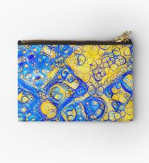 Yellow and Blue abstraction Zipper Pouch
