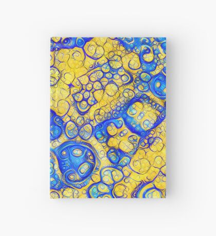 Yellow and Blue abstraction Hardcover Journal