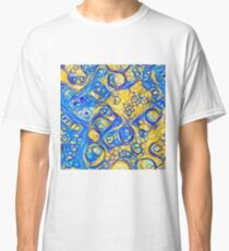 Yellow and Blue abstraction Classic T-Shirt
