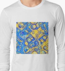 Yellow and Blue abstraction Long Sleeve T-Shirt