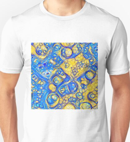 Yellow and Blue abstraction T-Shirt