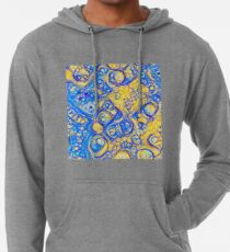 Yellow and Blue abstraction Lightweight Hoodie