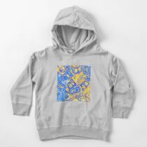 Yellow and Blue abstraction Toddler Pullover Hoodie