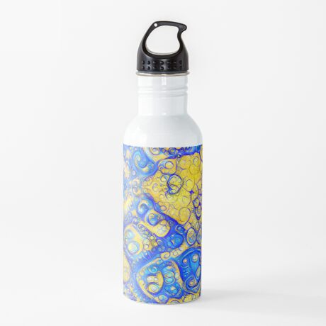 Yellow and Blue abstraction Water Bottle
