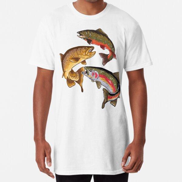 Fly Fishing Trout Tribute Long T-Shirt